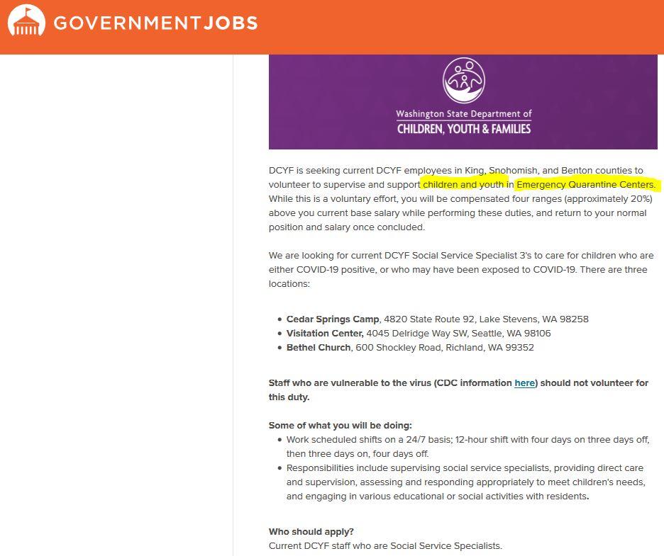 Childrens Quarantine Jobs