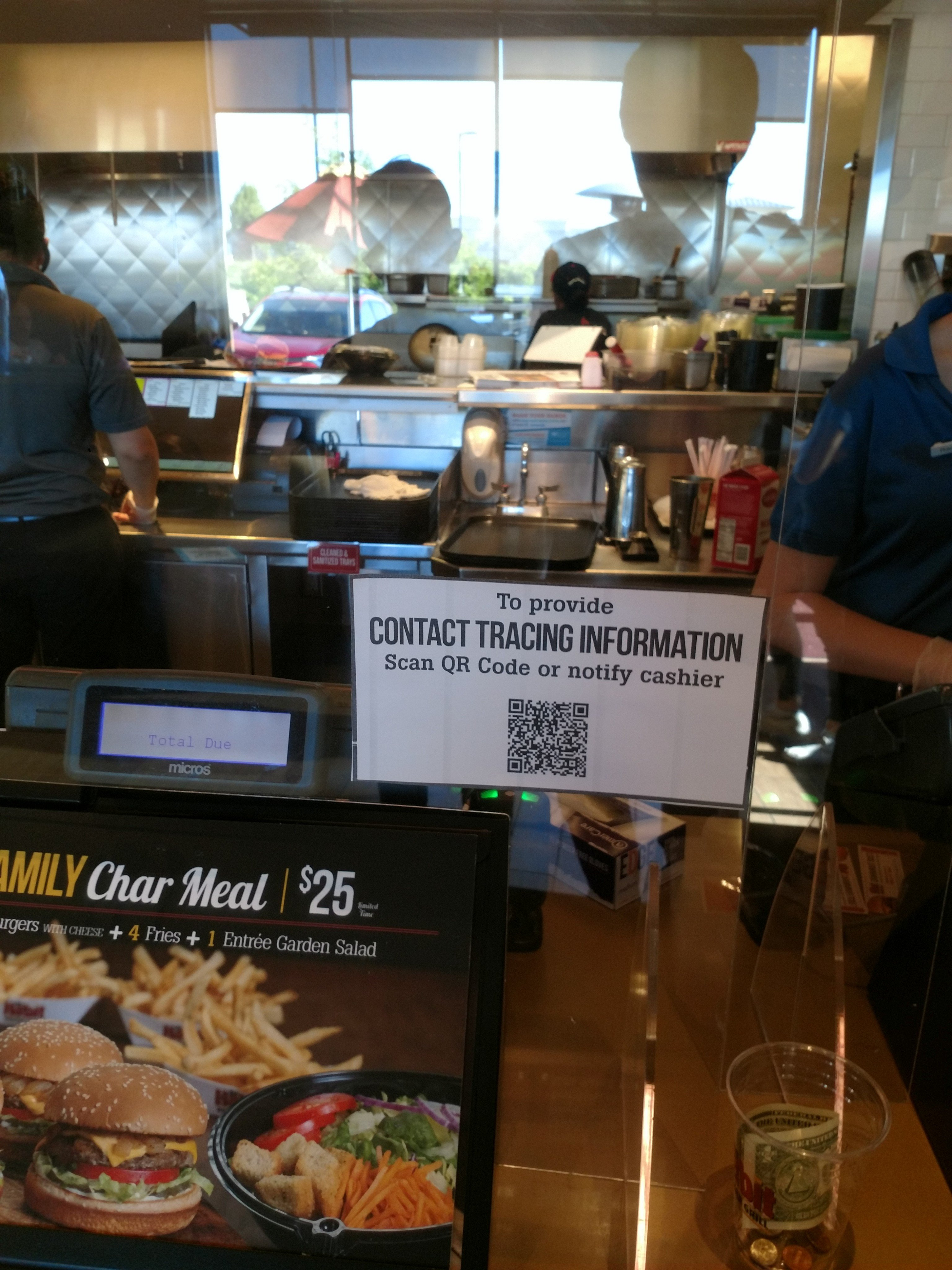 Local restaurant in Sandy Utah proudly participates in Contact Tracing