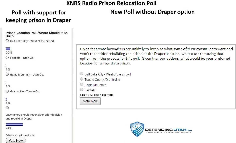 Draper Prison Relocation Poll
